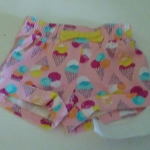 Gymboree pink ice cream cone themed shorts